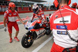 Andrea Dovizioso a bordo della Ducati