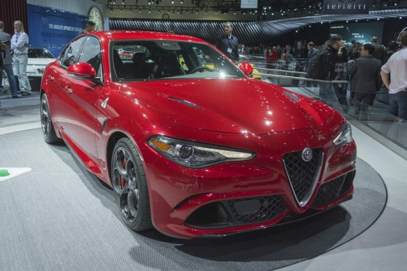 Los Angeles, USA - November 18, 2015: Alfa Romeo Giulia on display during the 2015 Los Angeles Auto Show.