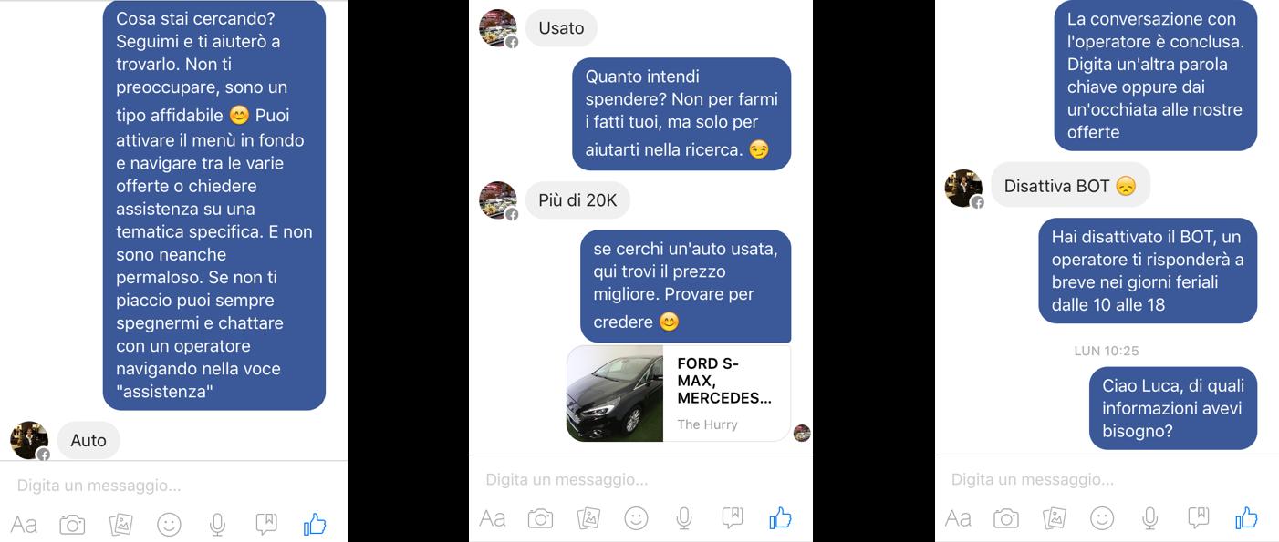 Il ChatBot di Hurry! si rinnova su Facebook