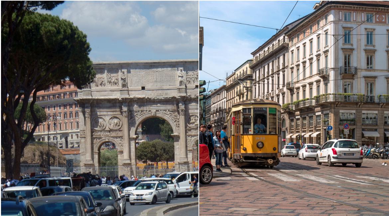 Roma – Milano: la mobilità italiana va a due velocità