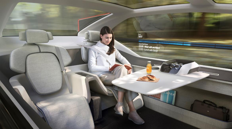 Volvo 360c: automobile, ufficio e camera da letto