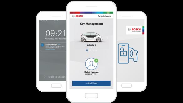 Addio chiavi: Bosch apre e avvia l'auto con un'app